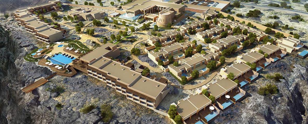 Anantara Jabal Al Akhdar Resort aerial