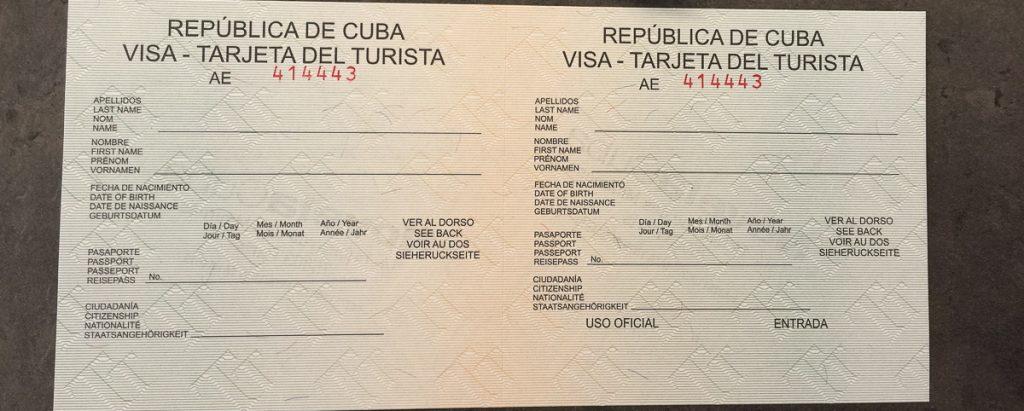 carte de tourisme cuba trajets del turista