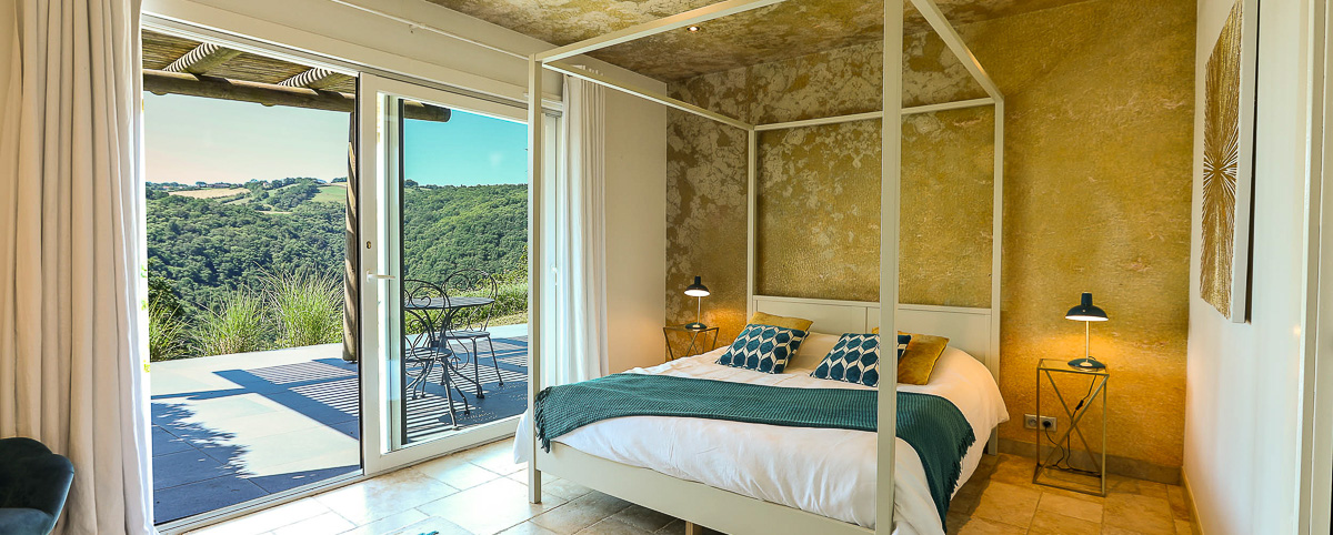 Domaine La Broutie Eco-friendly hotel room Aveyron